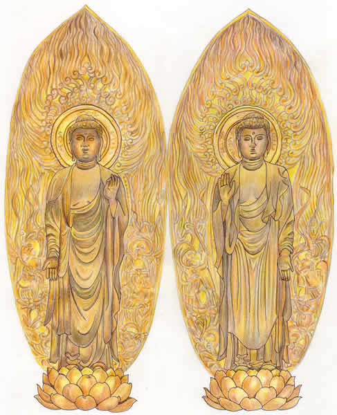 二尊院・釈迦如来立像・阿弥陀如来立像 仏像(二尊院・釈迦如来・阿弥陀如来)の特徴 二尊院はその名